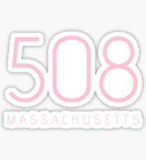 MASSACHUSETTS 508 • ROSE Sticker