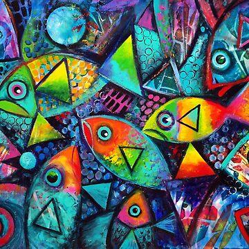 Hello fishies ( revised) by karincharlotte