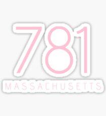 MASSACHUSETTS 781 • ROSE PINK Sticker