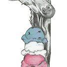 Ice Cream Loving Giraffe by Artidt