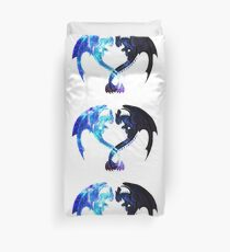 Dragon Heart (Toothless and Light Fury) Duvet Cover