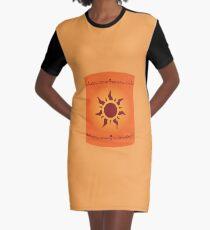 Floating Lanterns Graphic T-Shirt Dress