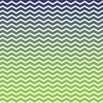Diagonal geometric pattern Blue and Green by egrubbs