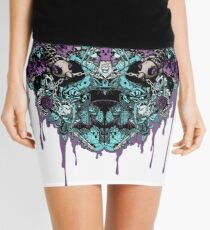 Ink Bleeds Blue Mini Skirt