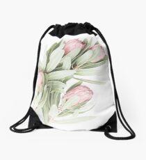 Lovely Soft Proteas...... Drawstring Bag