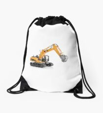 Excavator Drawstring Bag