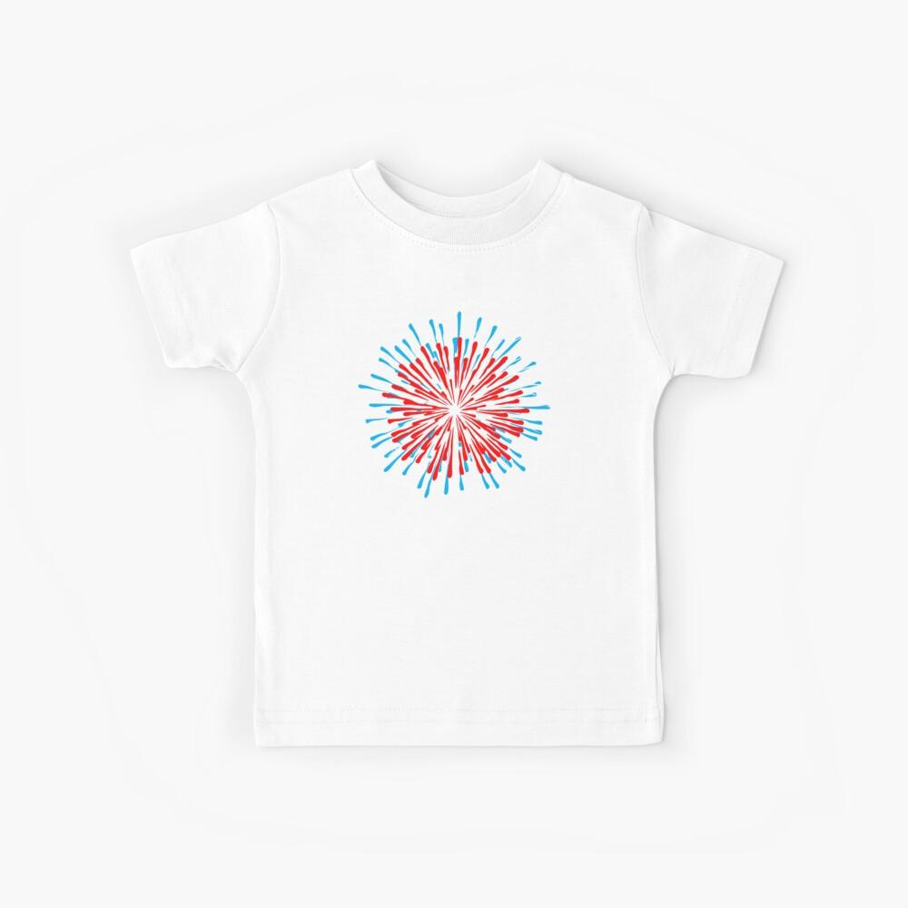 Brillantes fuegos artificiales Camiseta para niños