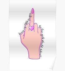 here's my right finger to how girls should behave Poster