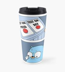 Golang Gopher Two Buttons Travel Mug