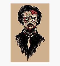 Edgar Allan Poe Zombie Photographic Print