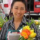 Farmers Market - Flower Vendor by AuntieJ