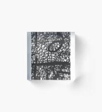 Improvised Lace Acrylic Block