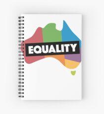 LGBT equality australia Spiral Notebook