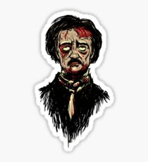 Edgar Allan Poe Zombie Sticker
