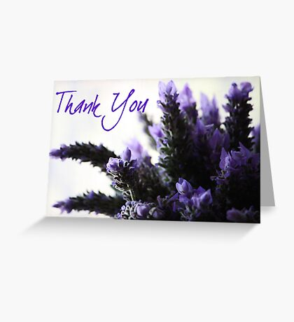 Thank You - Lavender Greeting Card Greeting Card