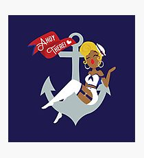 Ahoy There! Sailor Pin-Up  Photographic Print