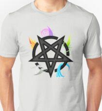 Elemental Pentacle - Black Unisex T-Shirt