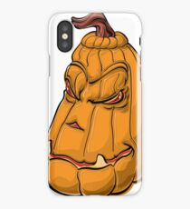 Angry Pumpkin iPhone Case