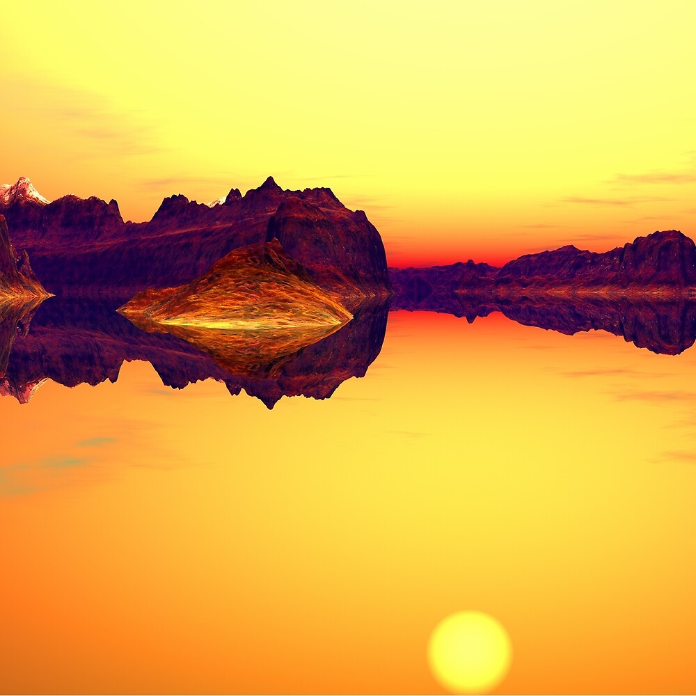 Reflections in Yellow by Hugh Fathers