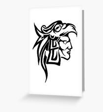 Aztec Eagle Warrior Greeting Card