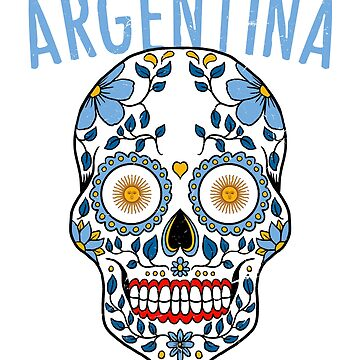 4e4820095 Argentina Calavera World Soccer Cup 2018 Russia Argentina Team Jersey by  33ink