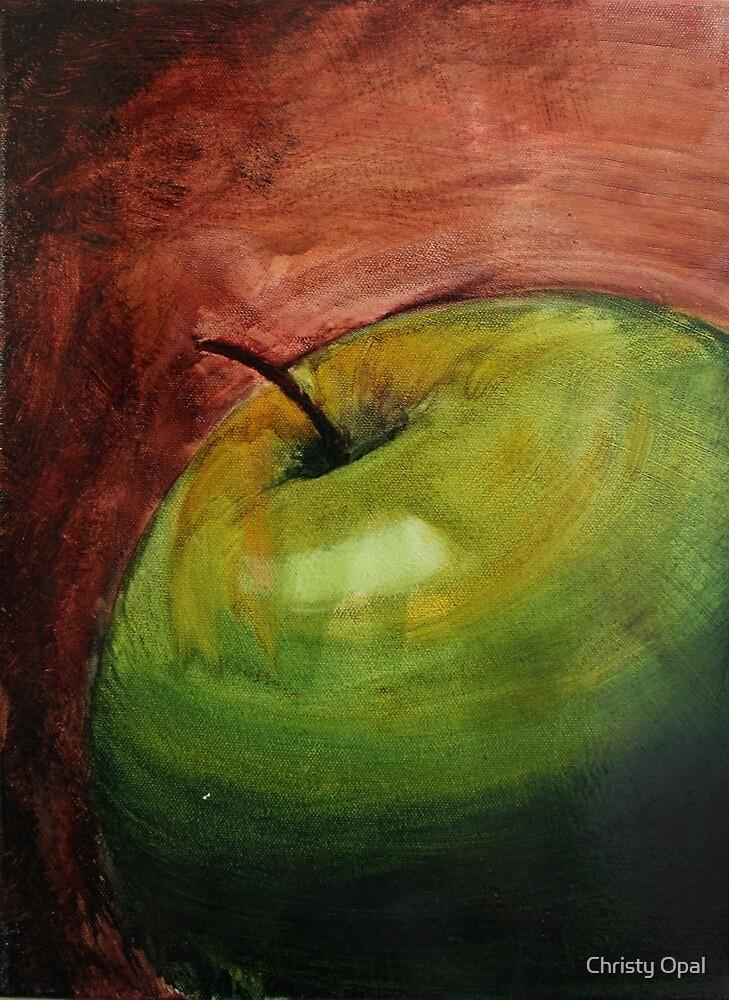 Green Apple by damasktattoo