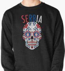 Serbie Calavera World Soccer Cup 2018 Russie Serbe Team Jersey Sweatshirt