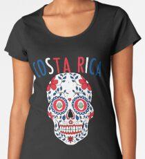 9b800c7d9 Costa Rica Calavera World Soccer Cup 2018 Russia Kosta Rika Team Jersey  Women s Premium T-