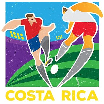 37d2d0406 Classic Costa Rica Poster World Soccer Cup 2018 Russia Kosta Rika Team  Jersey by 33ink