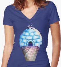 Iglu Geschmack Shirt mit V-Ausschnitt