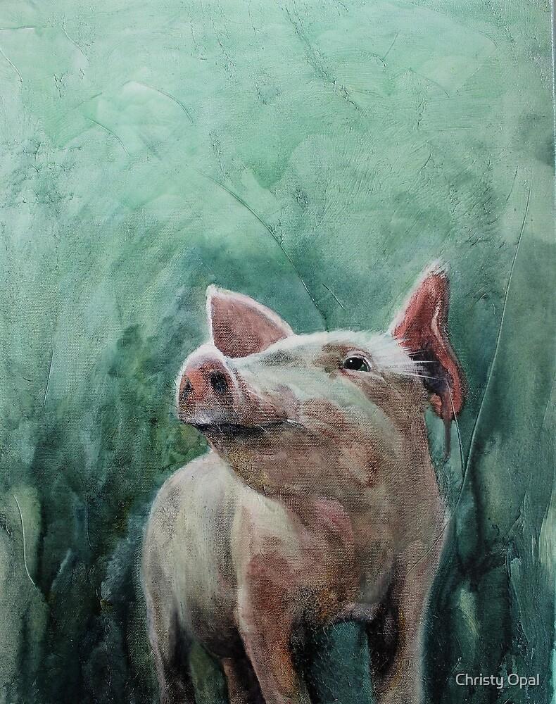 Mighty Fine Pig by damasktattoo