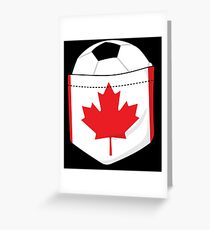 Soccer Canada 2026 in the breast pocket Greeting Card