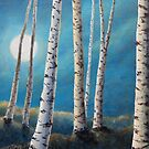 Silver Birch Moon by LisaLeQuelenec