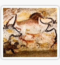 Lascaux Hall of the Bulls - Deer between Aurochs Sticker