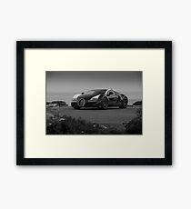 Bugatti Veyron: One of One B&W Framed Print