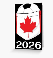 Soccer 2026 Canada in the breast pocket Greeting Card
