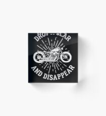 Motorcycle Riding Drop A Gear And Disappear Light Biker Riders Gift Light Acrylic Block