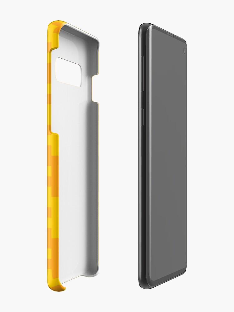 Alternate view of Geometric Pattern: Cross: Yellow Case & Skin for Samsung Galaxy