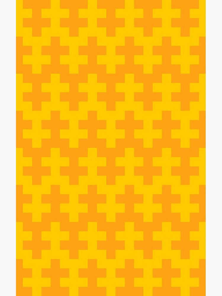 Geometric Pattern: Cross: Yellow by redwolfoz