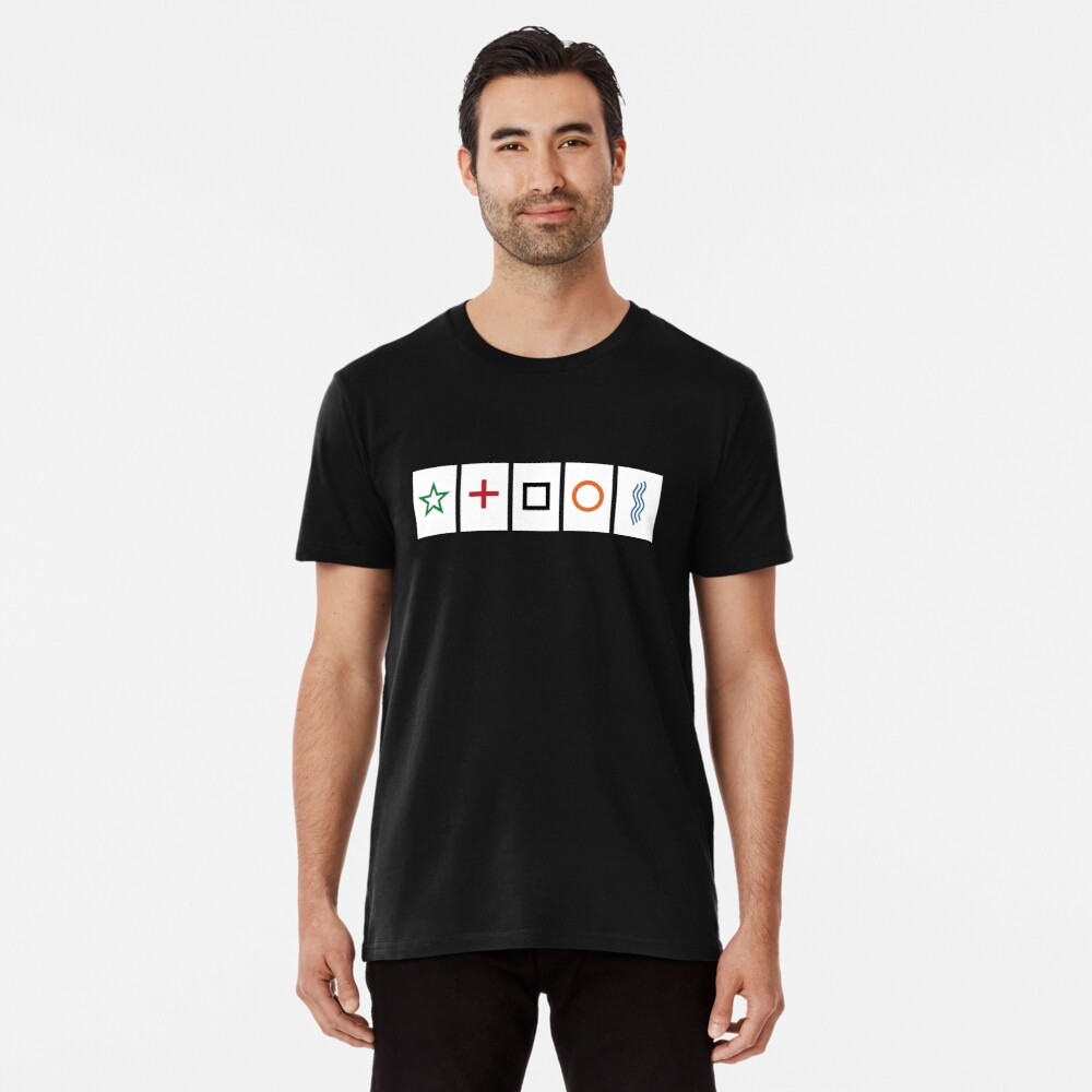 Zener cards: test your own ESP (as given away in magazine partwork The Unexplained) Premium T-Shirt