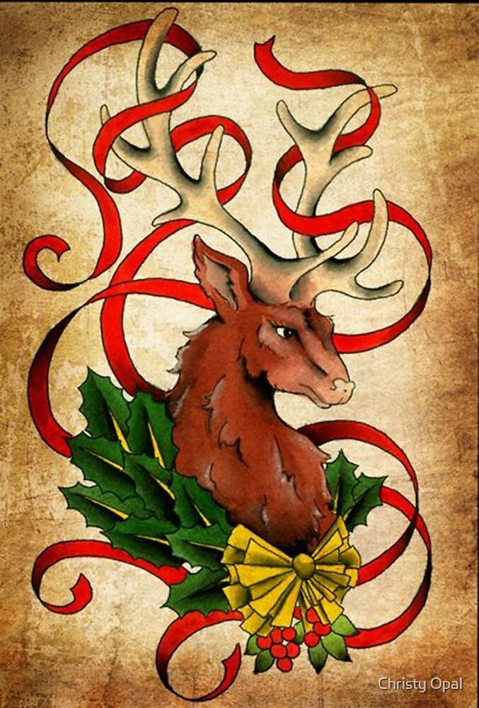 Christmas Reindeer  by damasktattoo