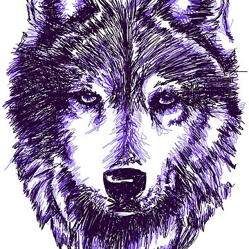 Timber Wolf-Purple by sandyeates