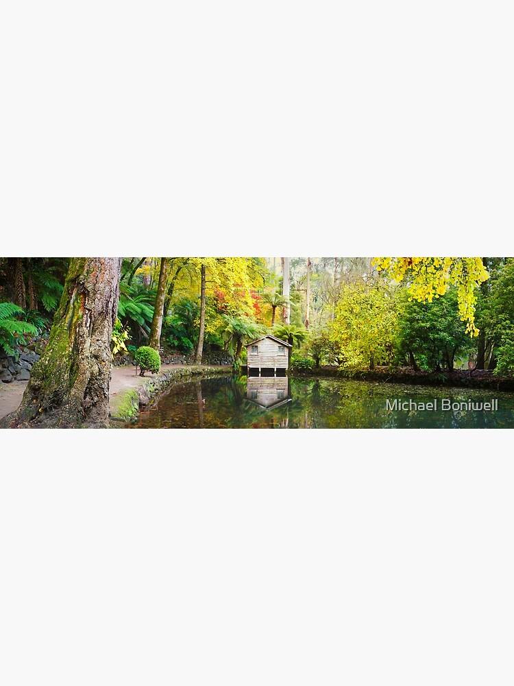 Boathouse in Autumn, Alfred Nicholas Gardens, Melbourne, Australia by Chockstone