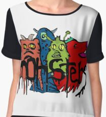 Monsters Chiffon Top