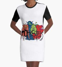 Monsters Graphic T-Shirt Dress