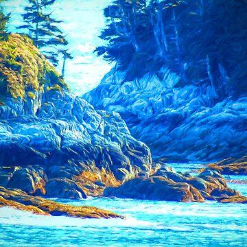 Rocky Coast - Inside Passge by MAMMAJAMMA