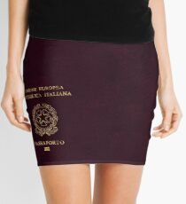 Italian Passport Vintage Mini Skirt