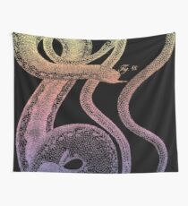 Occult Vintage Psychedelic Snakes Wall Tapestry