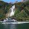 Waterfalls beside the sea