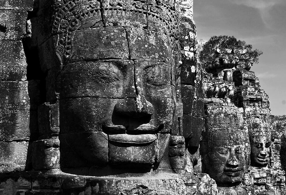 Bayon Faces, Angkor Wat, Cambodia by Dieselsmum